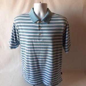 Adidas men's striped polo shirt